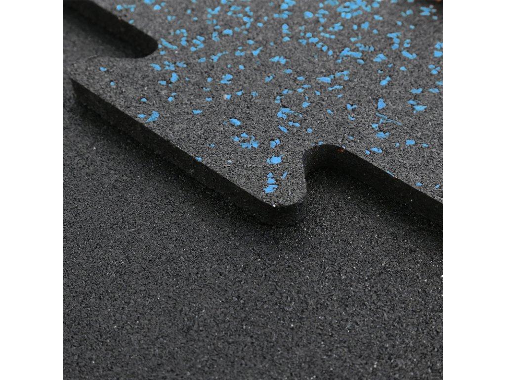 Modrý granulát športová gumená fitnees podlaha