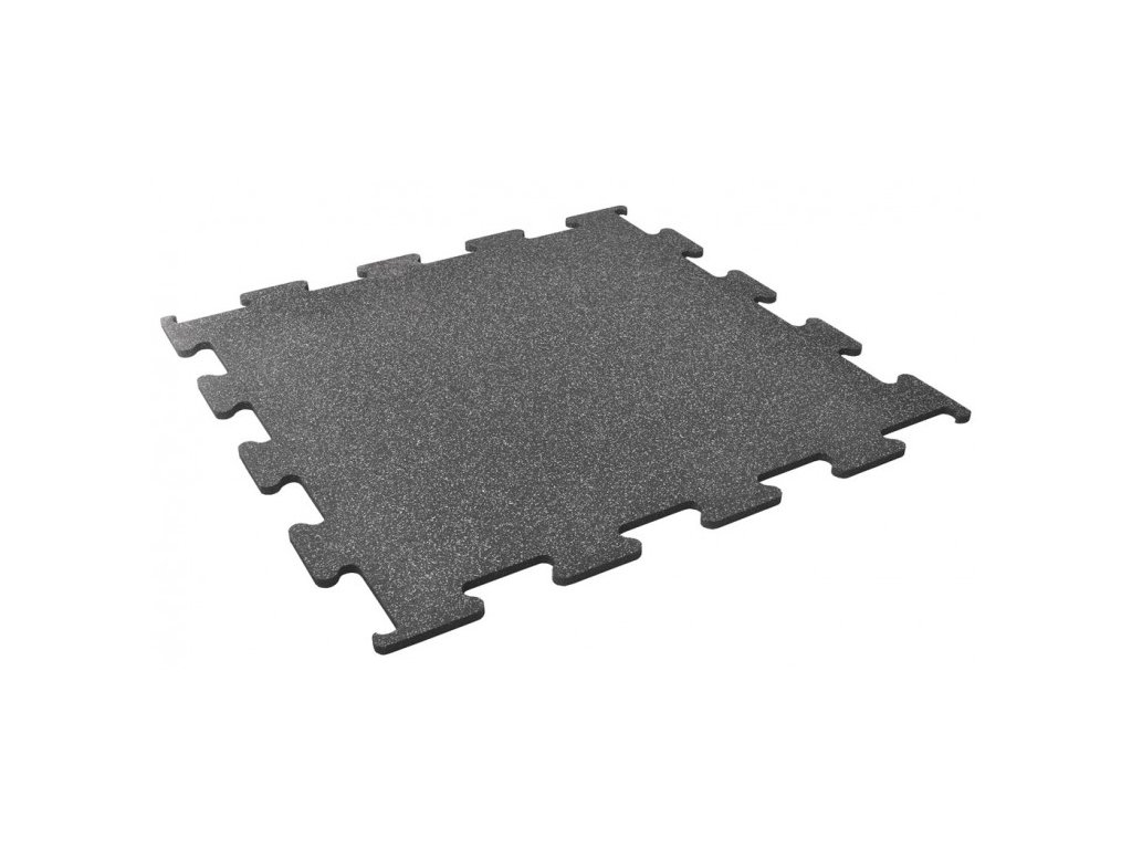 Podlaha Puzzle 1x1 m , grey , sivý granulát