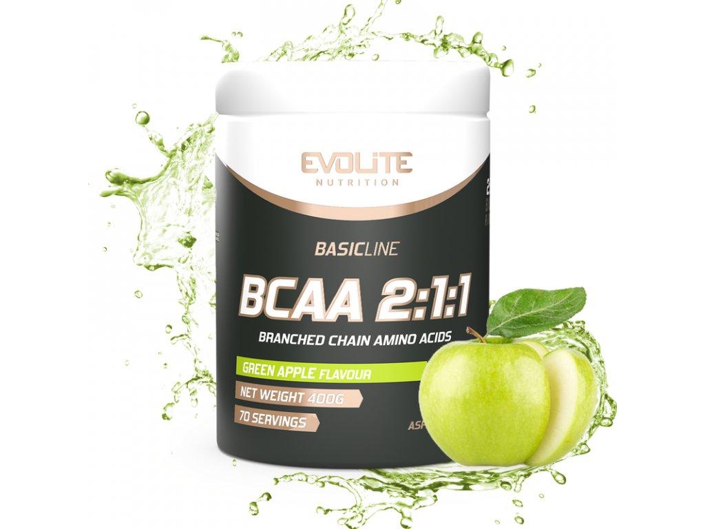 Evolite Nutrition BCAA 2:1:1 Zelené jablko