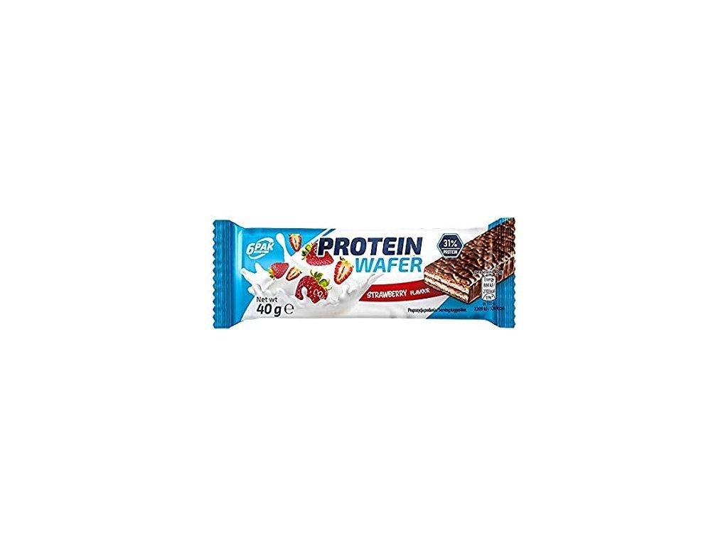 Wafer keksík s proteinom jahodová príchuť