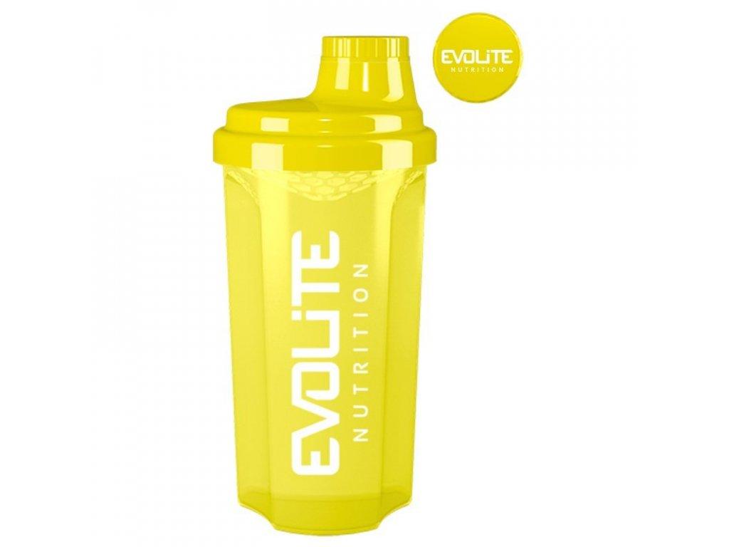 Evolite shaker nutrition 700ml - žltá farba