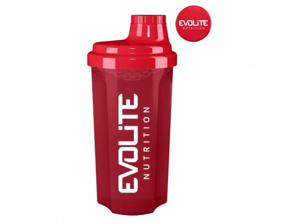 Evolite shaker nutrition 700ml - červená