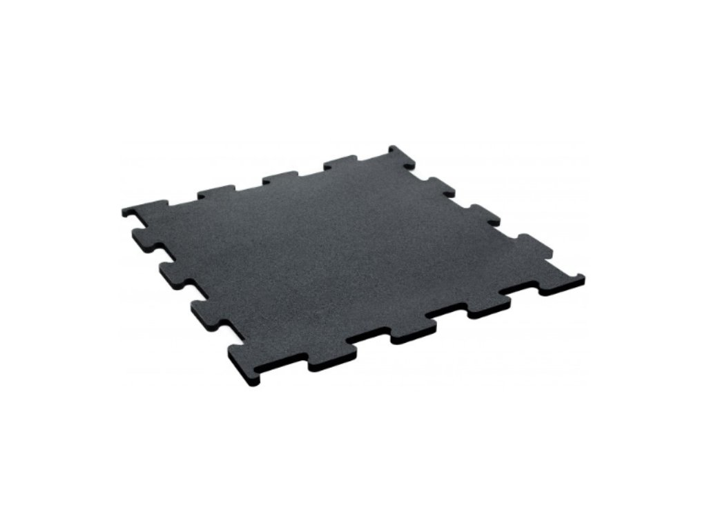 Podlaha Puzzle 1x1 m , čierny granulát , fitness podlaha , podlaha do gymu