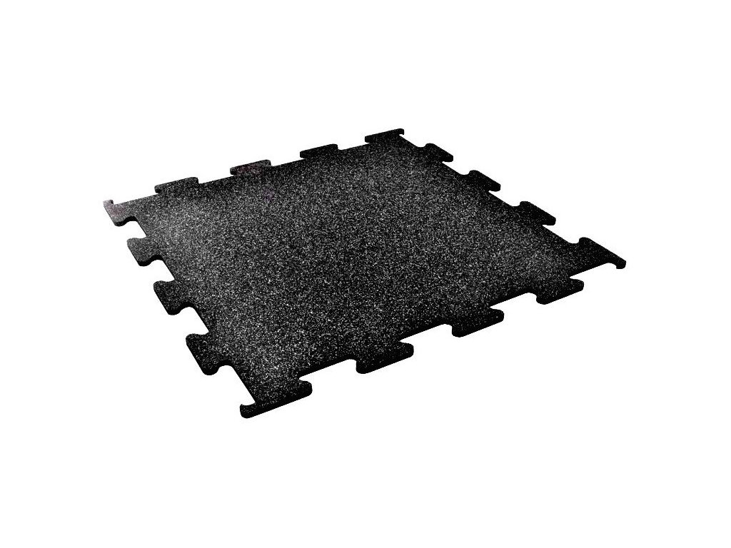 gumená podlaha biely granulát 8mm
