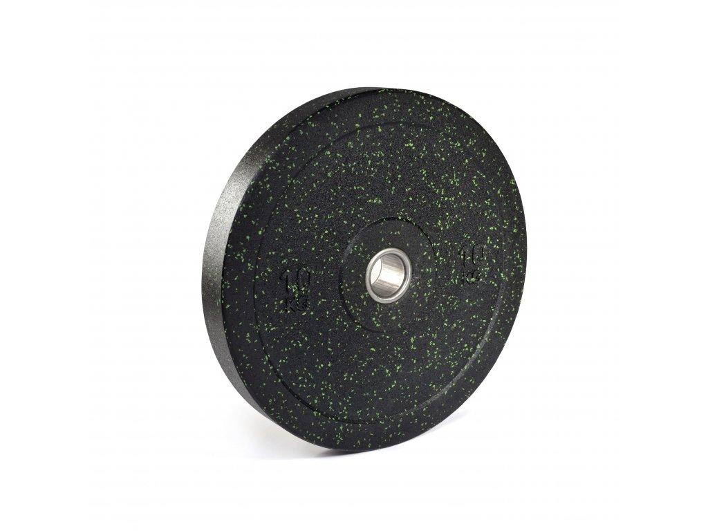 Bumper kotúč pro - tréningový kotúč 10kg zelený granulát