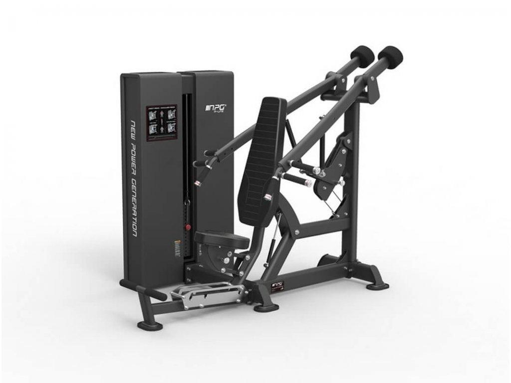 Posilňovací stroj tlaky na prsia a ramená
