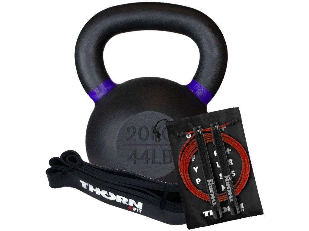 Mužský letný balíček na tréning vonku, kettlebell,švihadlo,expander - Thorn+fit - CFshop.sk