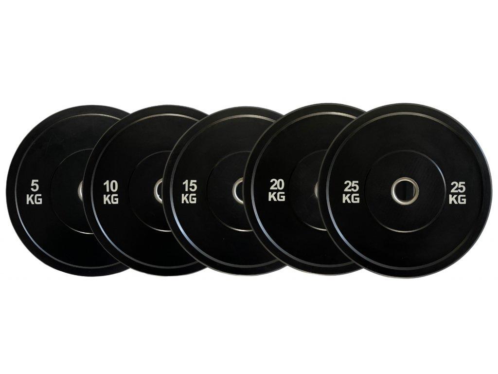 olympijské tréningové kotúče bumper - kvalitné gumené kotúče - Crossfit vybavenie - vybavenie do gymu - sada kotúčov 150kg