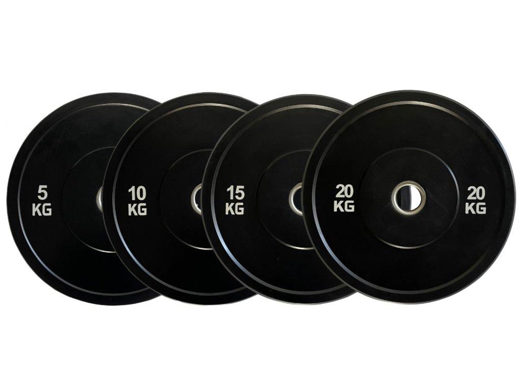 100kg sada bumper kotúčov - špeciálne kotúče na tréning - kvalitné olympijske kotúče na cvičenie - CFshop.sk