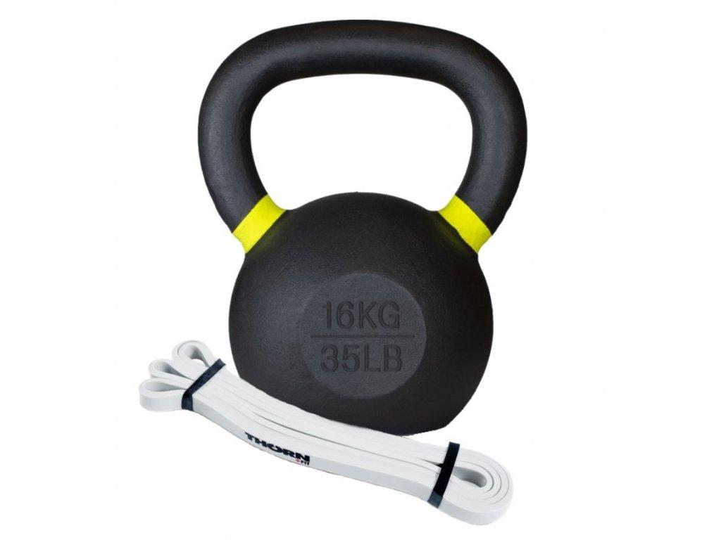 Kettlebell 16kg - odporová guma mini odpor 13kg