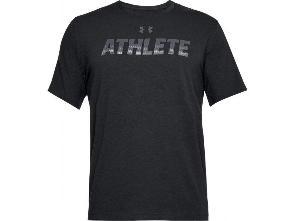 under armour tričko athlete čierne