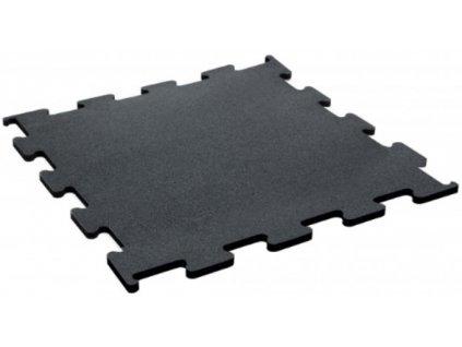 Podlaha Puzzle 1x1 m  , čierny granulát , podlaha na cvičenie , fitness podlaha