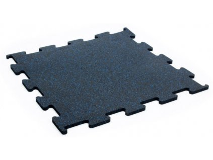 Podlaha Puzzle 1x1 m , blue , modrý granulát