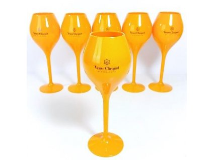 Yellow Label Flute Acrylic Veuve Clicquot Orange Champagne big