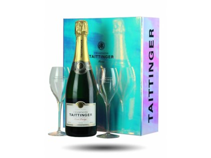 taittinger gift set with glasses