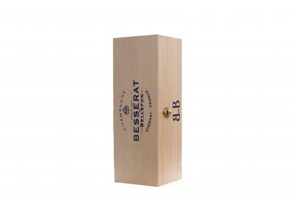 BESSERAT DE BELLEFON dřevěná dárková krabička na jednu láhev