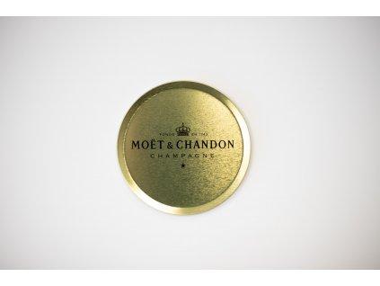 Moët & Chandon tácek pod skleničku zlatý (1ks)