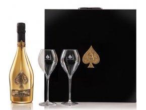Armand de Brignac Brut Gold Gift Set With 2 Glasses 75cl 2 74699.1606769769