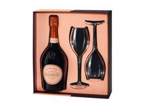 laurent perrier giftbox cuvee rose 2 verres limited edition