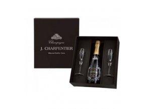 champagne darkovy box 2x sklenicka