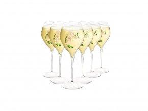 Perrier Jouët sada 6ti skleniček 19cl