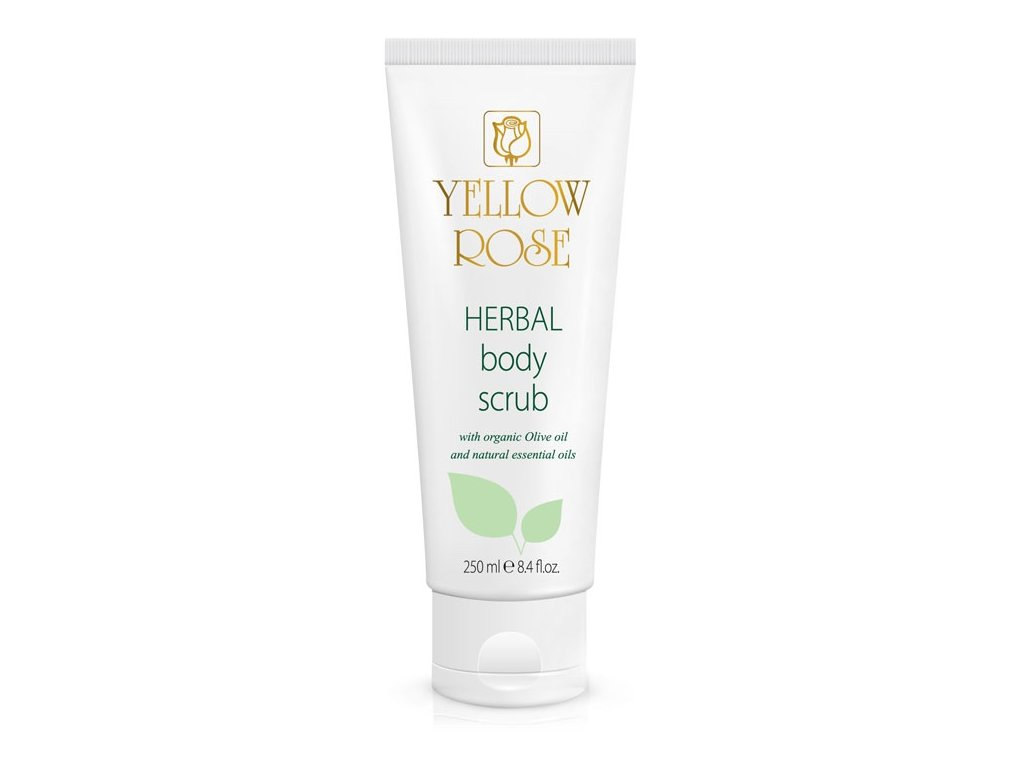 yellow rose herbal body scrub TUBE 250ML