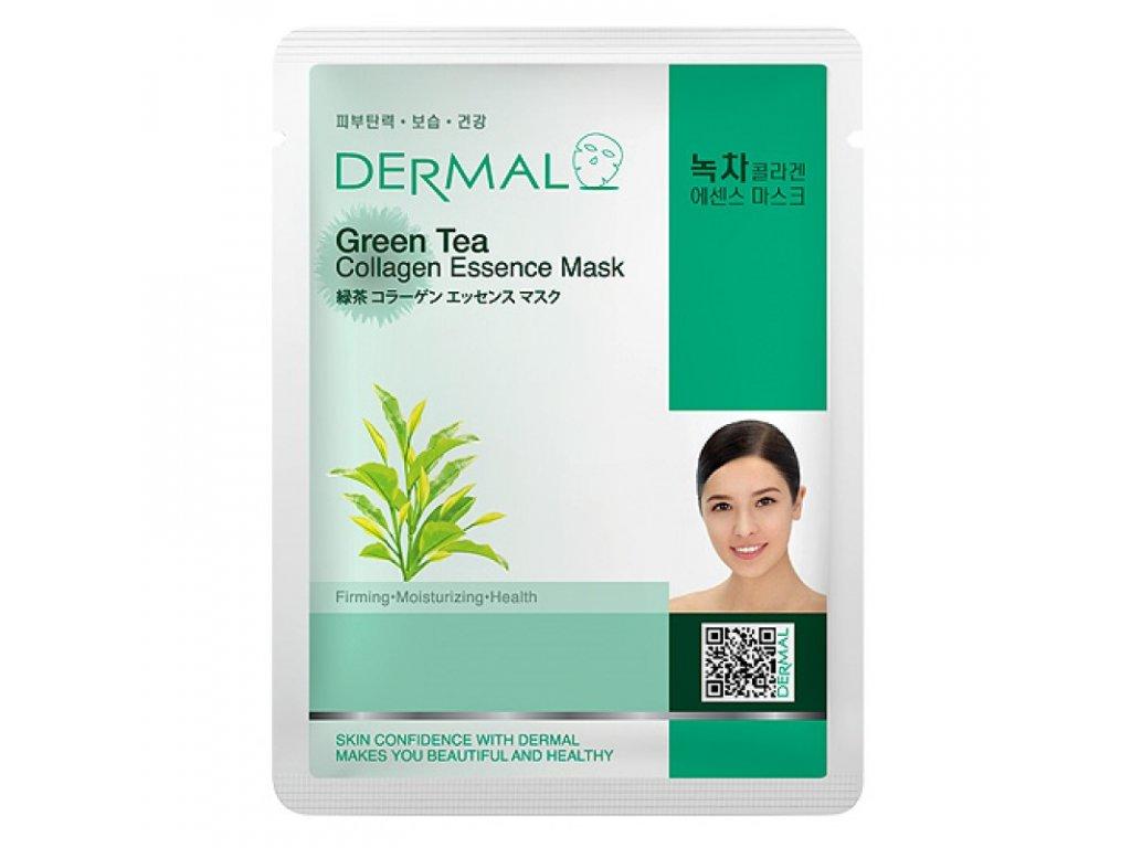 DERMAL Korea Green Tea Collagen Essence Mask - Esenční kolagenová maska se zeleným čajem