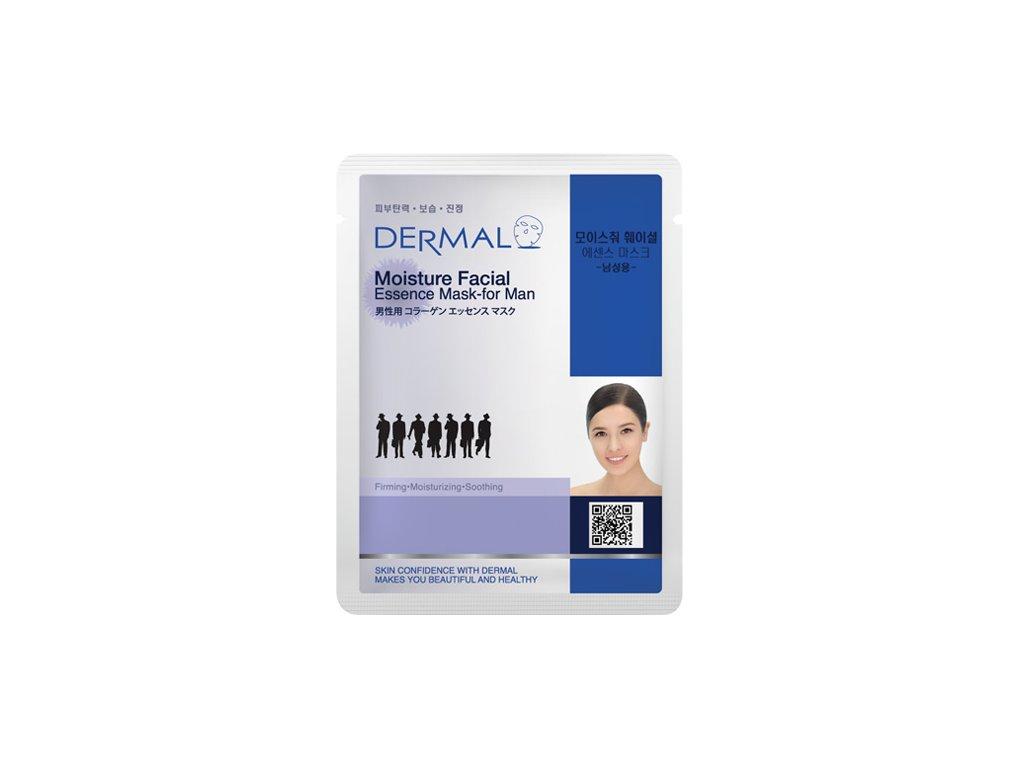 DERMAL Korea Moisture Facial Essence Mask-for Man - Esenční maska pro muže
