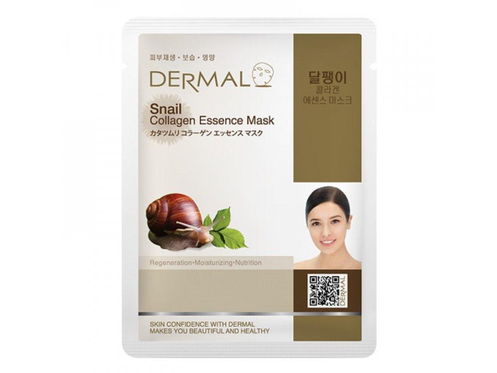 DERMAL Korea Snail Collagen Essence Mask - Esenční kolagenová maska se šnečím extraktem