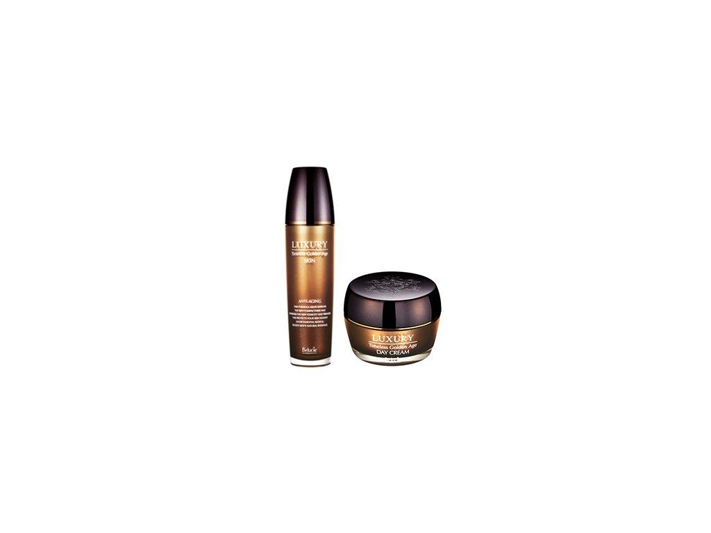 KJMA Belucie Luxury Timeless Golden-Age Day Cream + Skin / Denní krém 50ml + Tonizační pleťová voda 125ml