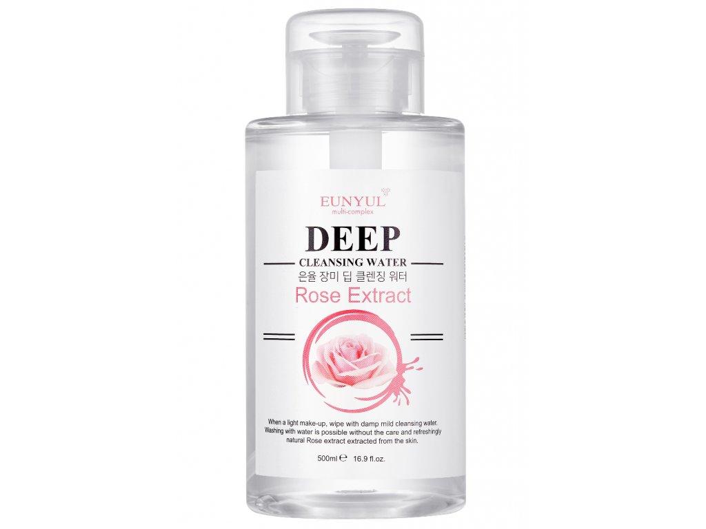 Eunyul Deep Cleansing Water - Rose /  Čistící voda s výtažky z růží - 500ml