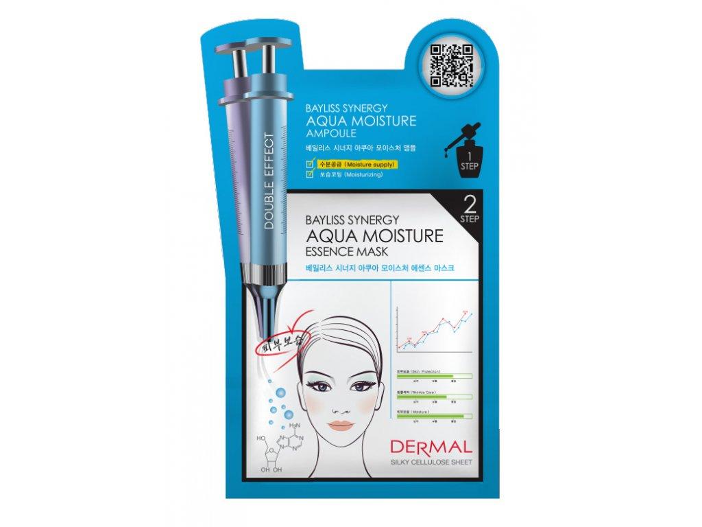 DERMAL Korea Bayliss Synergy Aqua Moisture Essence Mask - Speciální esenční maska silně hydratační (Esenční maska + Sérum)
