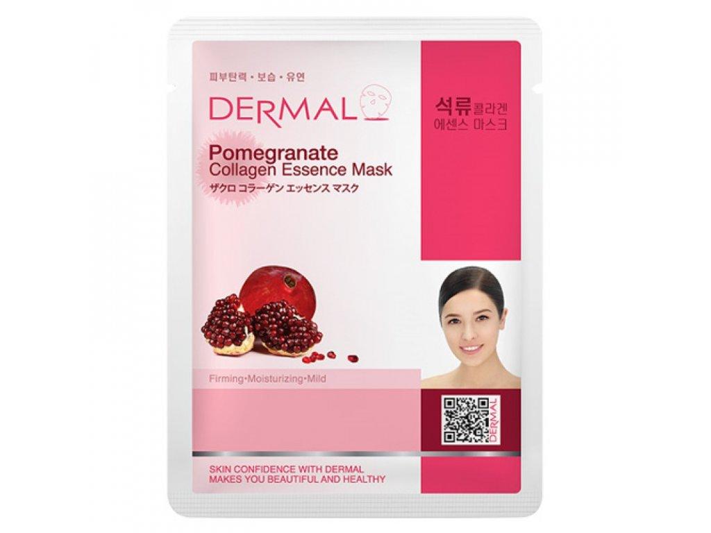 DERMAL Korea Pomegranate Collagen Essence Mask - Esenční kolagenová maska s granátovým jablkem