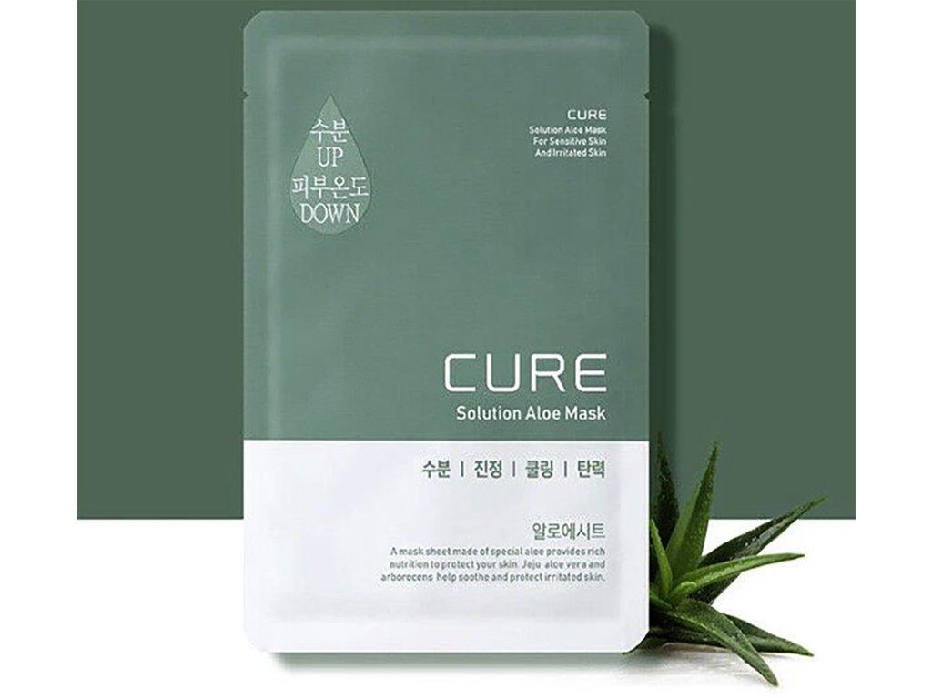 KJMA Korea Cure Solution Aloe Mask - Speciální Bio-celulosová maska s Aloe