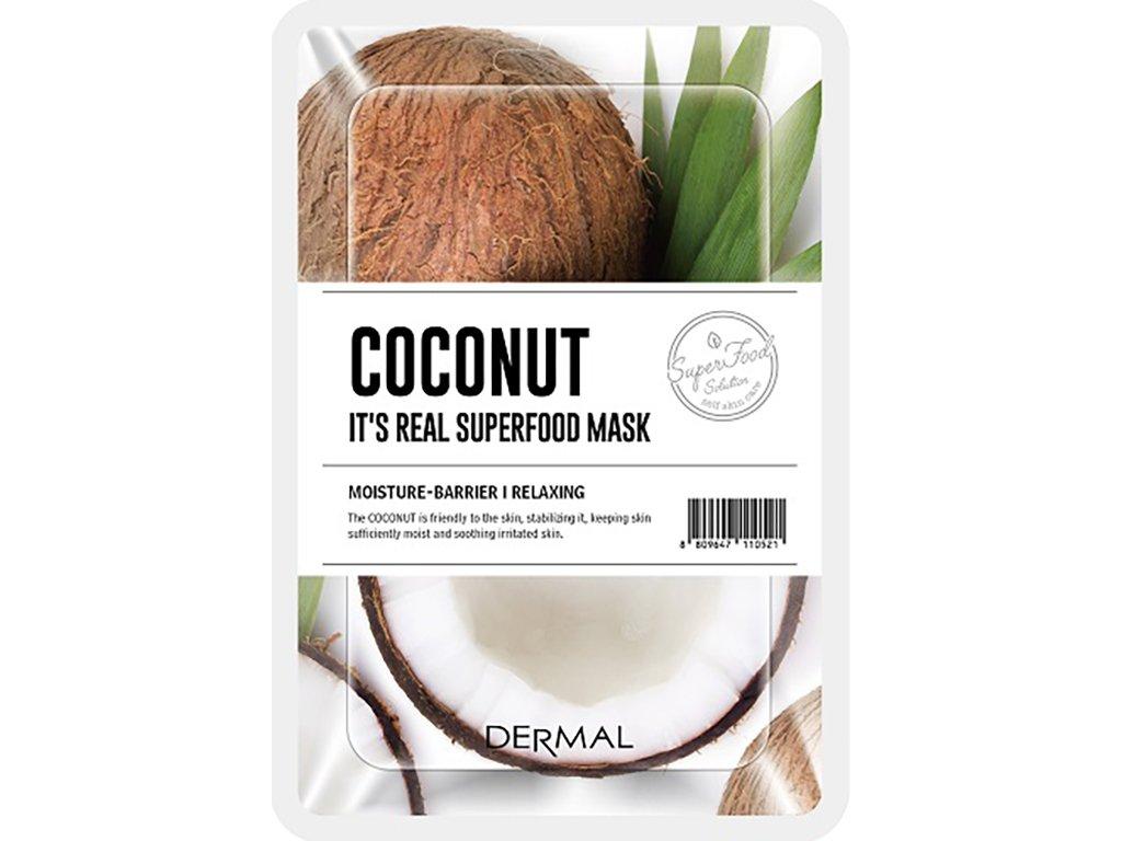 Dermal Korea - Esenční maska ze Superpotravin - kokosový ořech | 25g