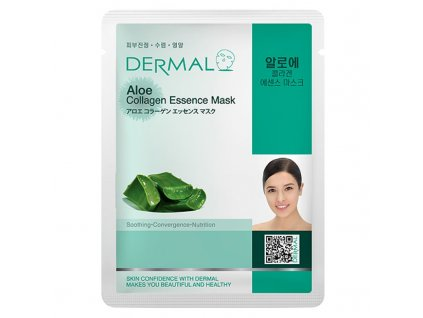 DERMAL Korea Aloe Collagen Essence Mask - Esenční kolagenová maska s aloe vera