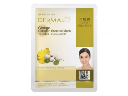 DERMAL Korea Ginkgo Collagen Essence Mask - Esenční kolagenová maska s ginkgem