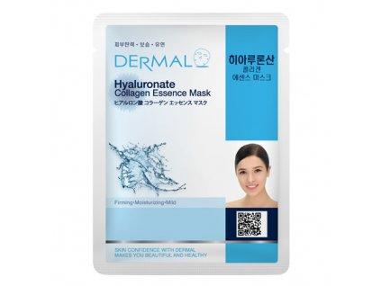 DERMAL Korea Hyaluronate Collagen Essence Mask - Esenční kolagenová maska s kyselinou hyaluronovou