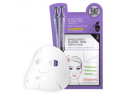 DERMAL Korea Bayliss Synergy Elastic Skin Essence Mask - Speciální esenční maska s elastinem (Esenční maska + Sérum)