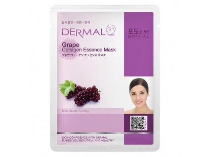 DERMAL Korea Grape Collagen Essence Mask - Esenční kolagenová maska z hroznů