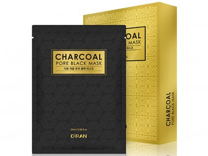 New Charcoal Pore Mask white sheet