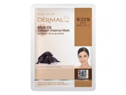 Dermal Korea Mink Oil Collagen Essence Mask
