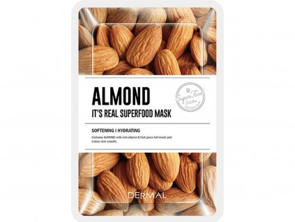 Dermal Korea It's Real Superfood Mask - Almond | Esenční mandlová maska | 25g