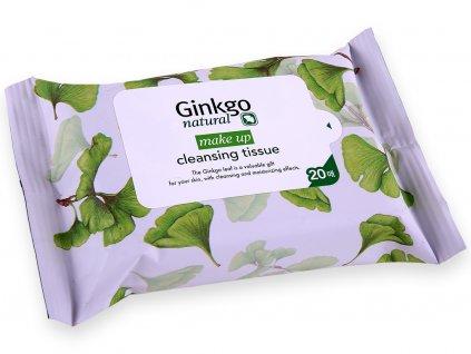 Charmzone Ginkgo Natural Make-Up Cleansing Tissue - Vlhčené odličovací Ginkgo kosmetické kapesníčky | 20ks