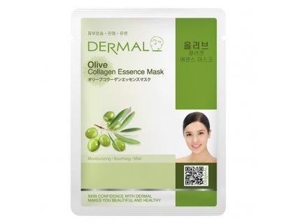 dermal-korea-esencni-kolagenova-maska-s-olivami-23g