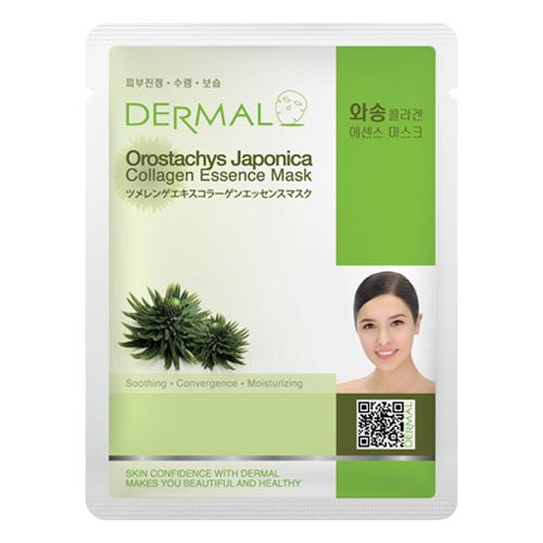 DERMAL Korea Orostachys Japonica Collagen Essence Mask - Esenční kolagenová maska s borovicí Japonica Kusů: 1 kus