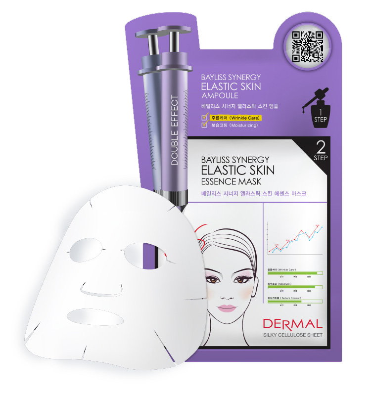 DERMAL Korea Bayliss Synergy Elastic Skin Essence Mask - Speciální esenční maska s elastinem (Esenční maska + Sérum) Kusů: 1 kus