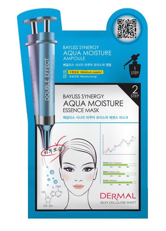DERMAL Korea Bayliss Synergy Aqua Moisture Essence Mask - Speciální esenční maska silně hydratační (Esenční maska + Sérum) Kusů: 1 kus