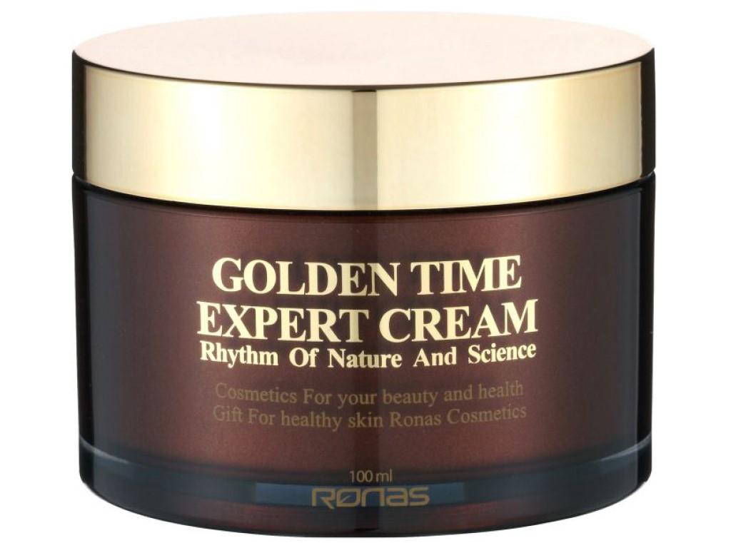 RONAS Golden Time Expert Cream - Protivráskový výživný krém s 24-karátovým zlatem / 100ml