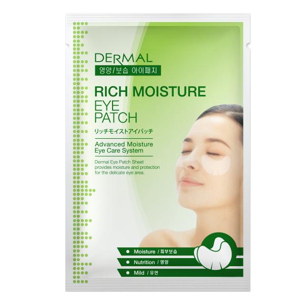 DERMAL Korea Rich Moisture Eye Patch - Hydratační zvláčňující oční maska - 1 pár plátků Kusů: 10 kusů